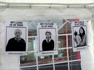 Artists exhibition against fracking