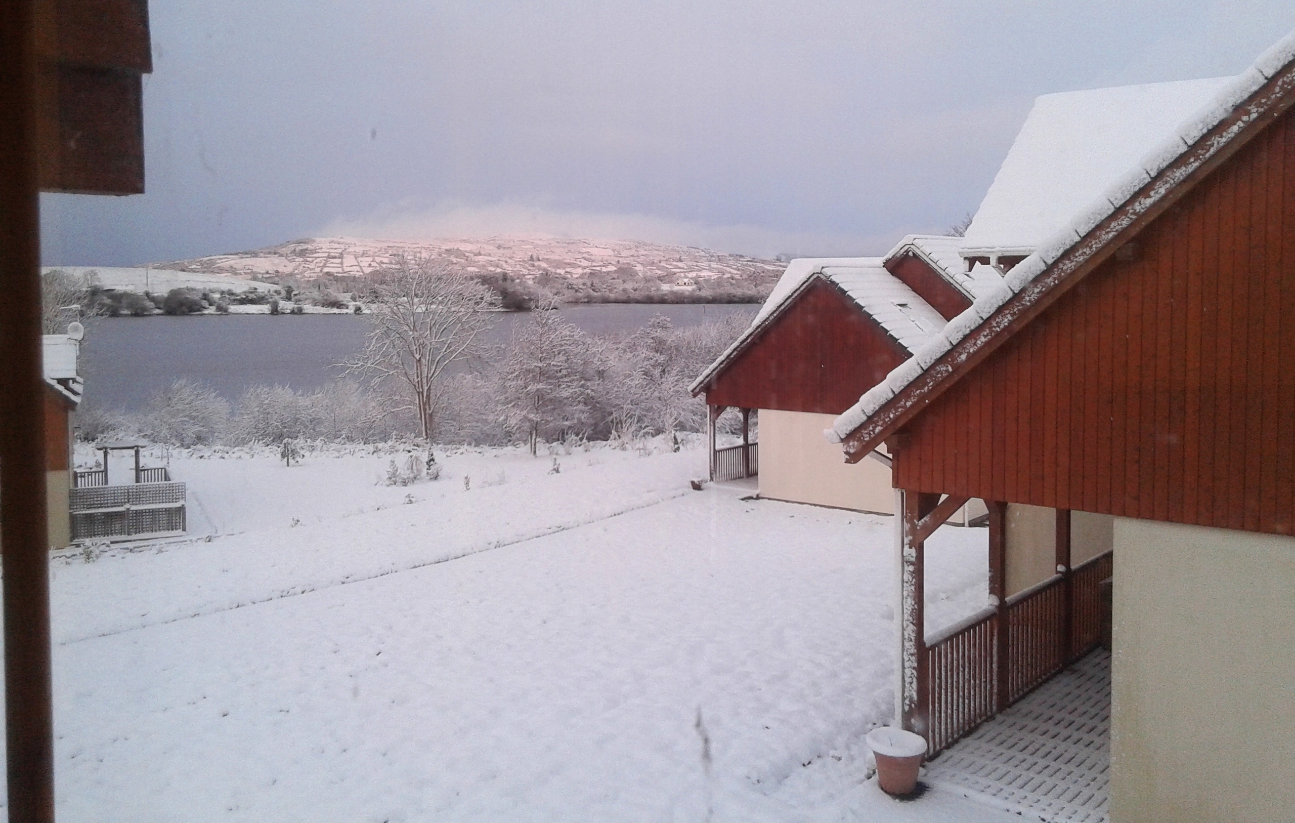 Snowy landscape from the EVS volunteers house