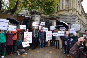 Demonstration Dublin Leinster House