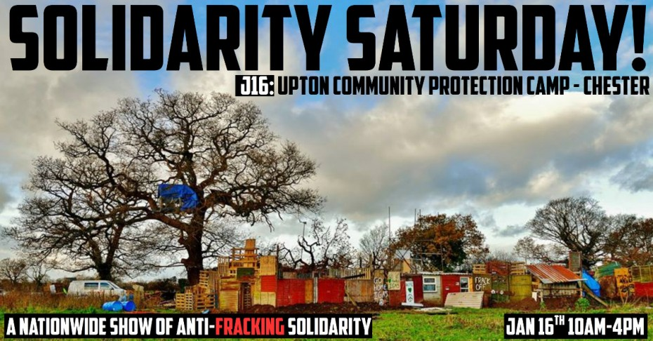 anti fracking solidarity saturday poster