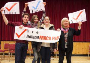 ireland frack free debate evs volunteers and Aedin