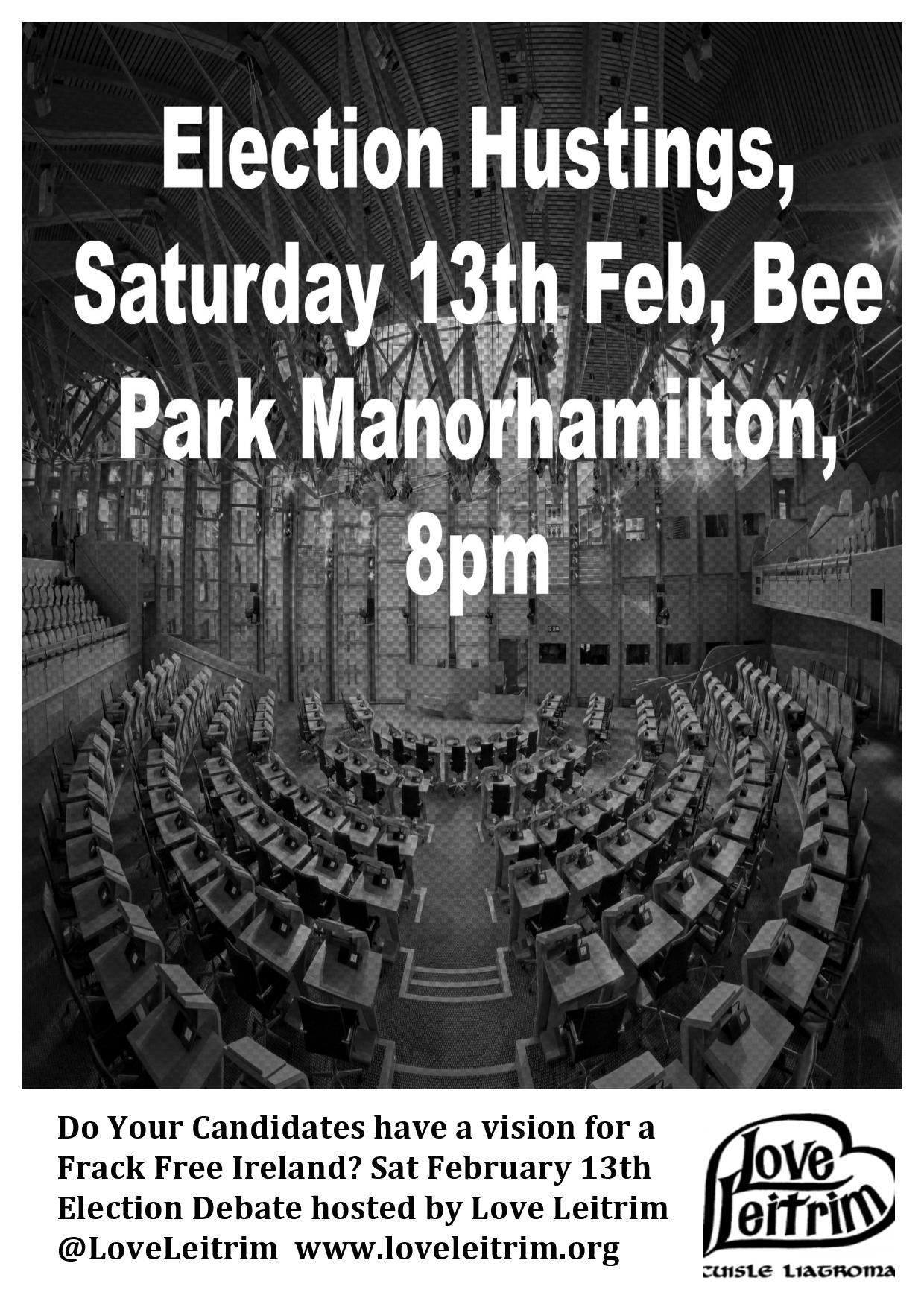Election Hustings, Saturday 13, BeePark, Manorhamilton
