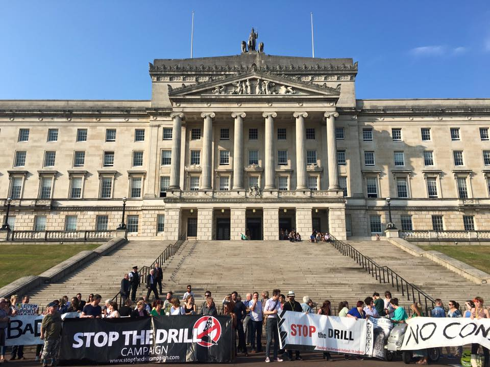 POWERFUL DEMONSTRATION OF ANTI-FRACKING CAMPAIGN AT STORMONT