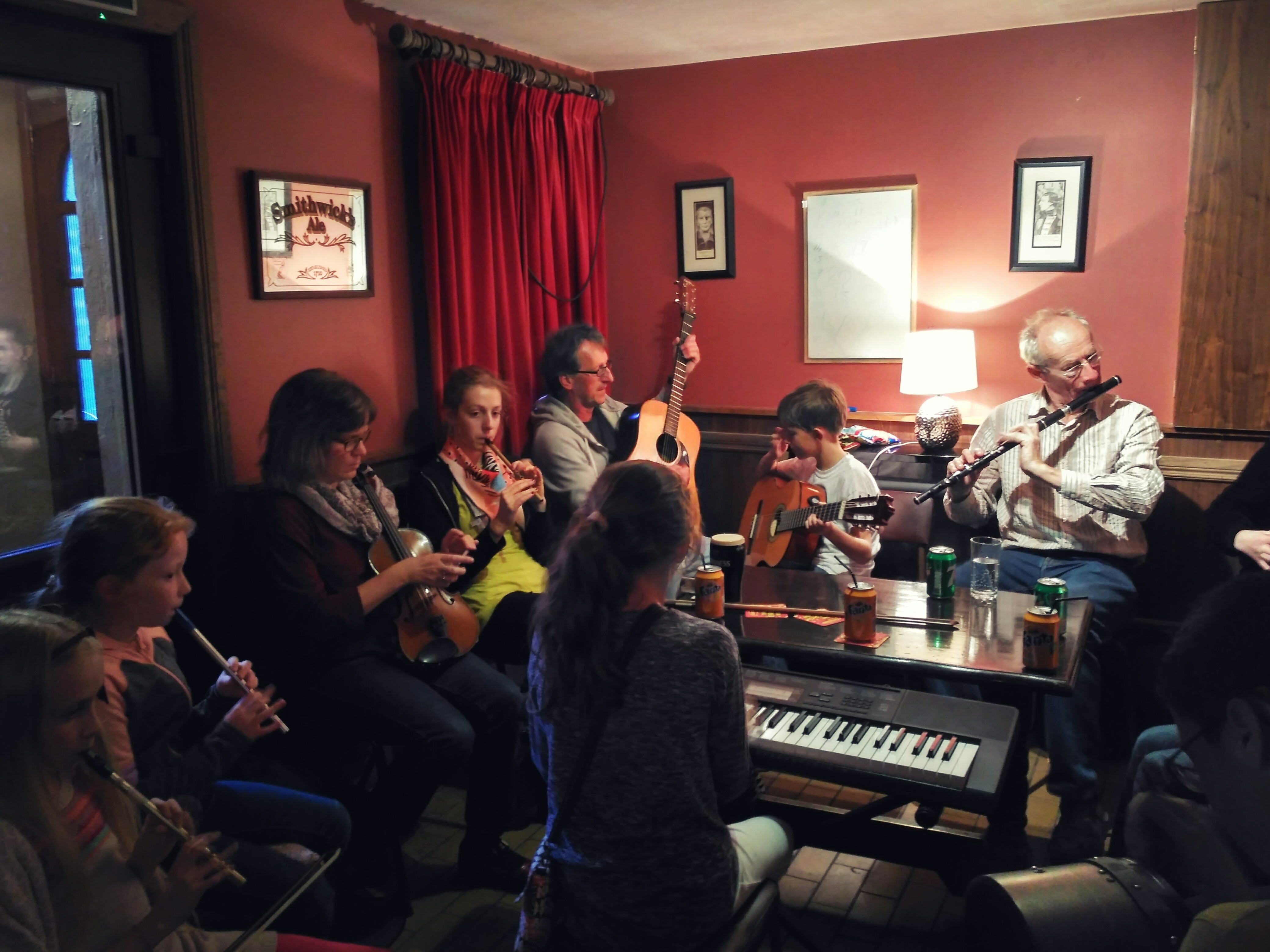 music session mulveys at trad weekend