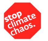 Stop climate chaos logo