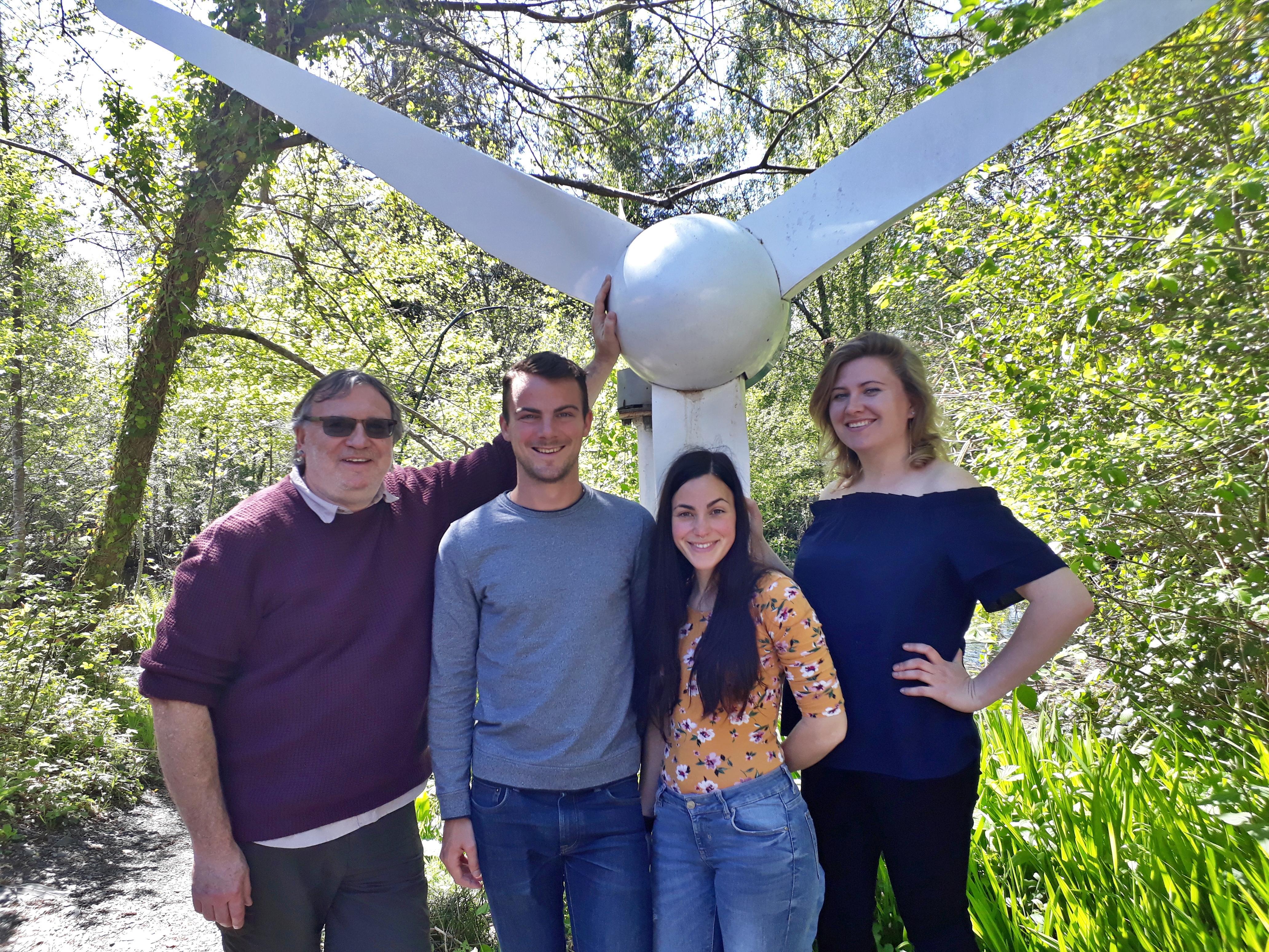 wind turbine del jules siri sasha volunteers