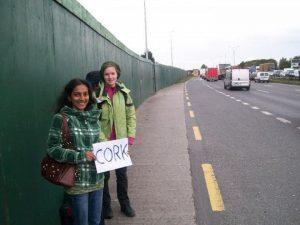 irish women hitchhiking