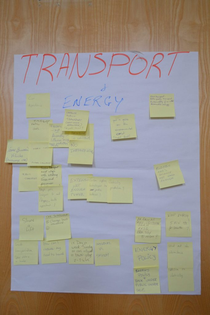 climate dialogue transport table