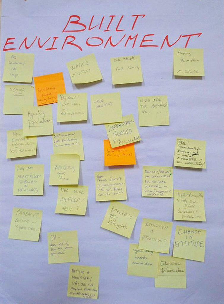 climate dialogue table built environment