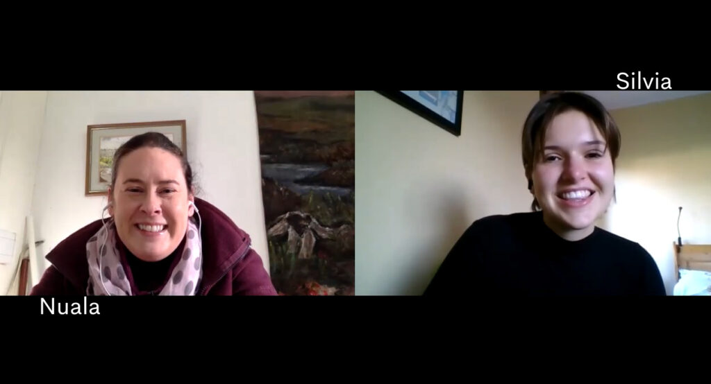 A screenshot of Nuala and I from the meeting
