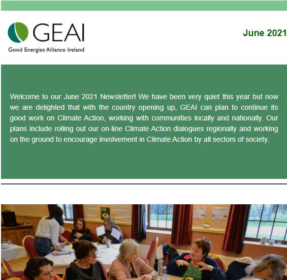 Newsletter June 2021 screenshot